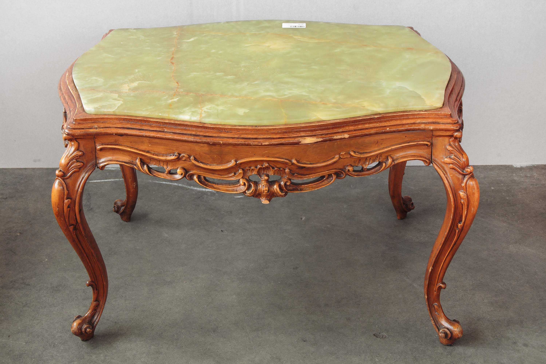 tavolo tavolino sala salotto legno marmo stile barocco metà 900 ...