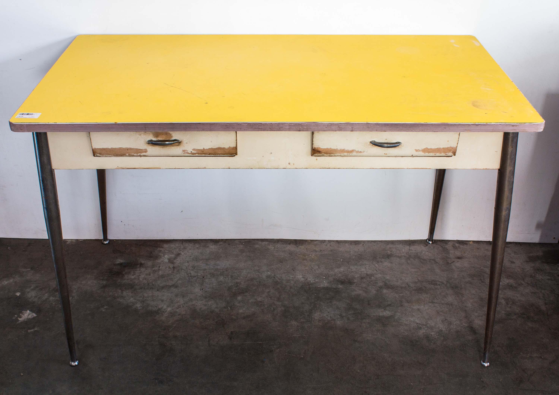 Tavolo Formica Giallo : Tavolo formica giallo anni vintage bar ristoranti
