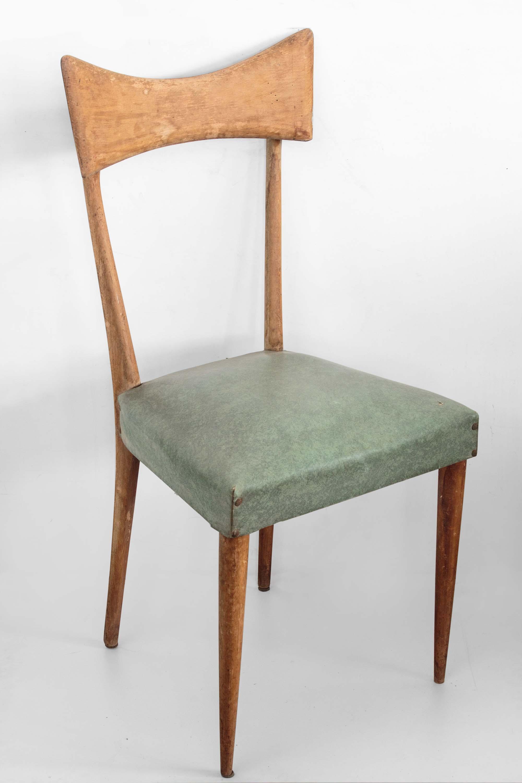 Sedie In Legno Anni 50 60.Sedia Legni Curvi Ecopelle Anni 50 60 Vintage Parisi Mercatino