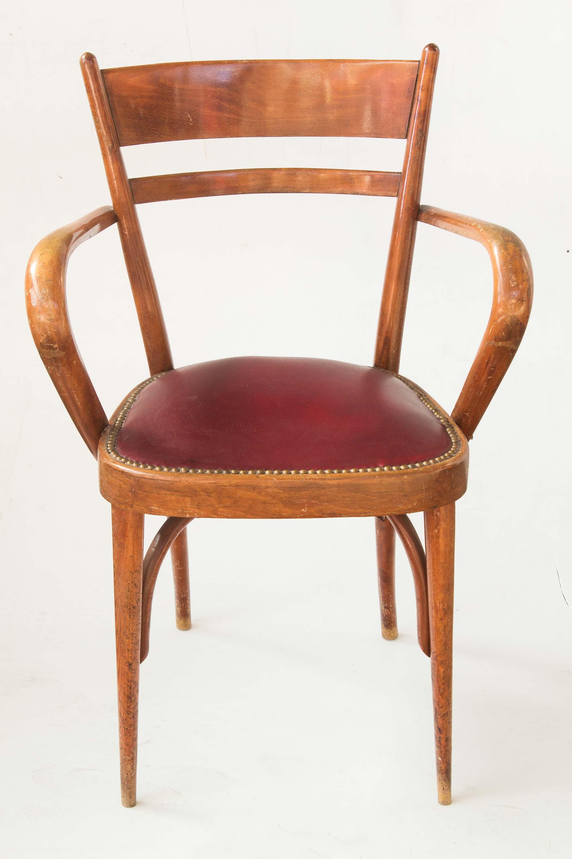 Sedia legni curvi ecopelle anni 40 50 vintage mercatino for Sedia anni 50 design