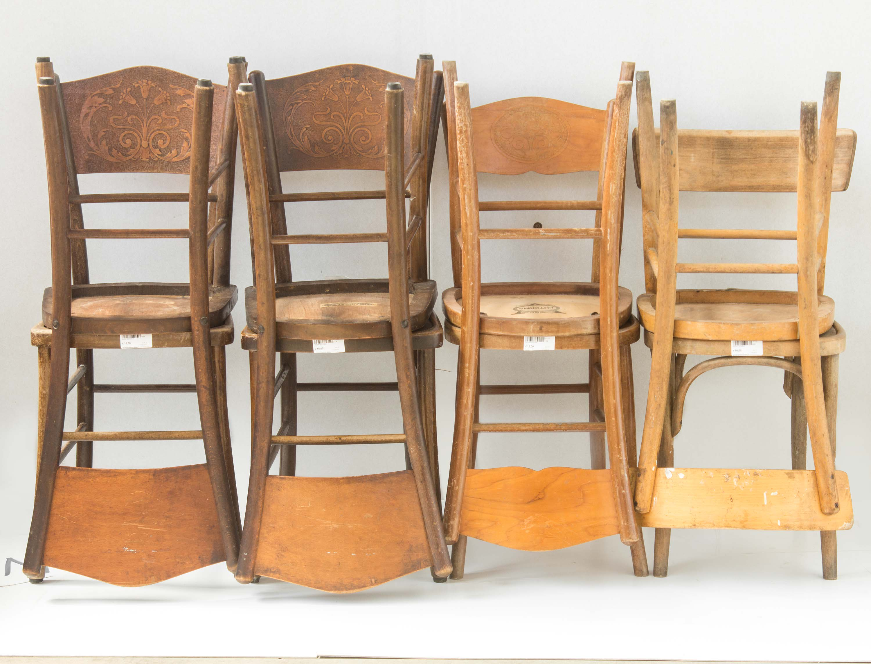 9 sedie osteria legno vintage arredamento rustico mercatino dell 39 usato eureka - Tavoli in legno usati ...