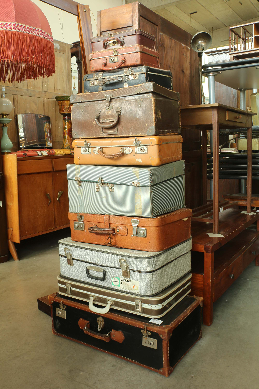 10 valigie cartone anni 30 40 50 vintage arredamento for Stile vintage arredamento