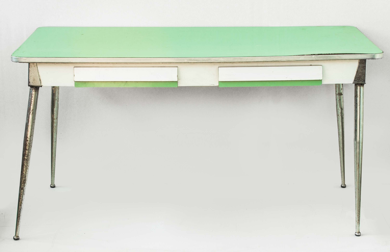 Tavolo formica verde anni 50 60 vintage modernariato | Mercatino ...