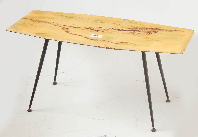 tavolo tavolino piedi spillo marmo ottone vintage anni 50 60 ...