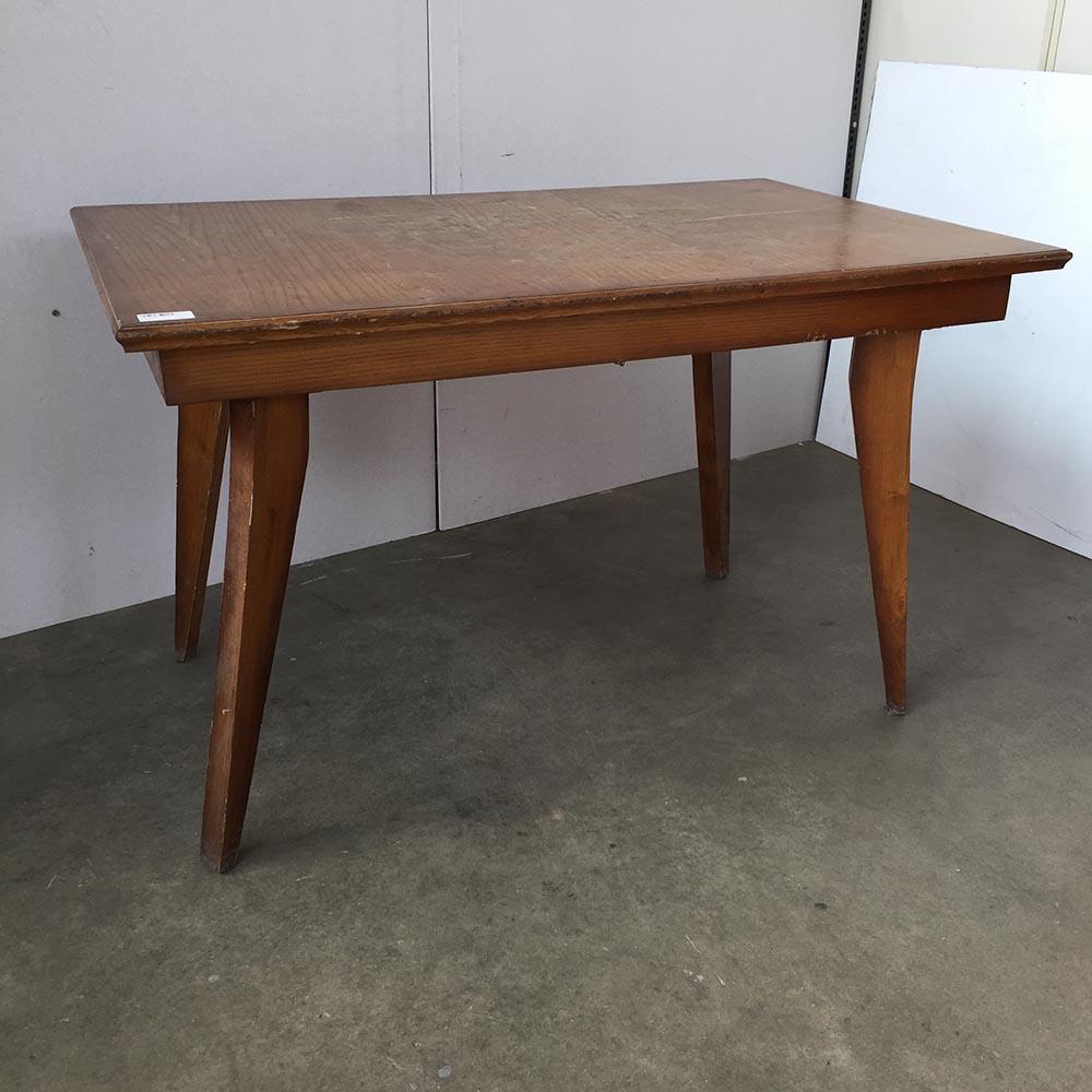 Tavolo rettangolare in legno anni 50 60 mercatino dell 39 usato eureka - Tavolo per unghie usato ...